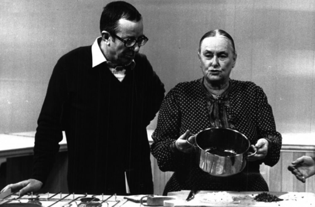 Luigi Veronelli e Anna Ninchi